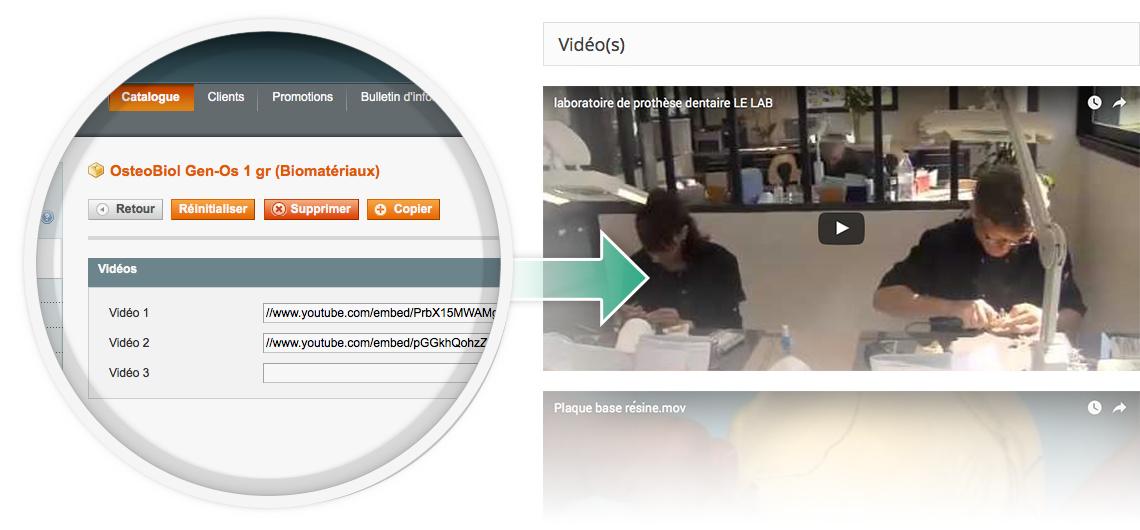 module magento gestion videos