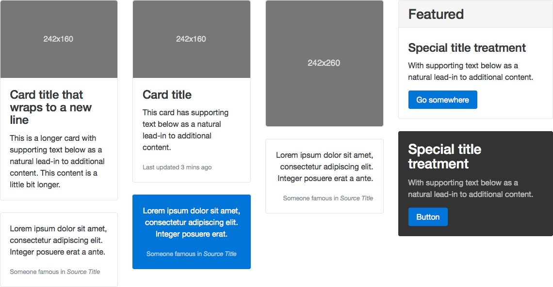 Bootstrap 4 Cards