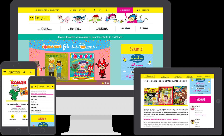 Nouveau site web Bayard Jeunesse