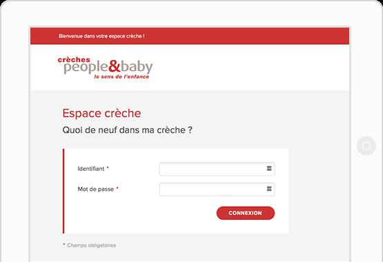 espace parents en ligne crèches people&baby