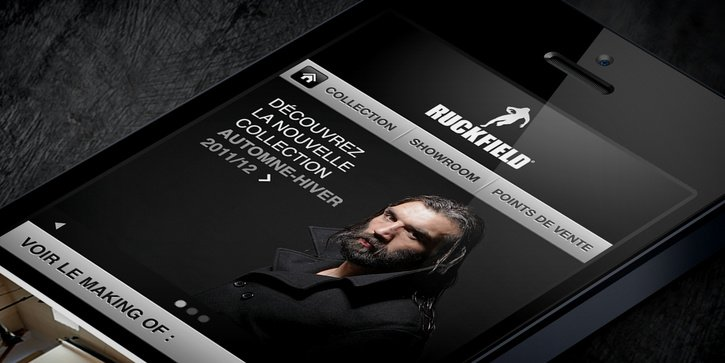 Ruckfield: Site web mobile