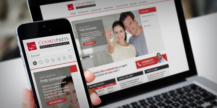 CourtiPrêts: Site Wordpress Responsive Design