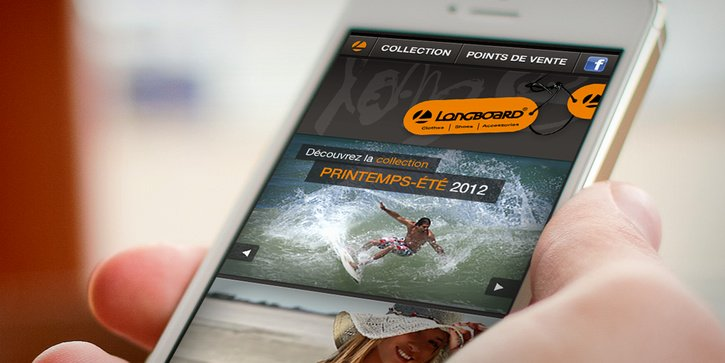 Longboard: Site web mobile