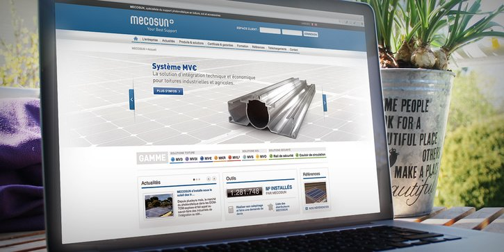 MECOSUN: Application web corporate et extranet