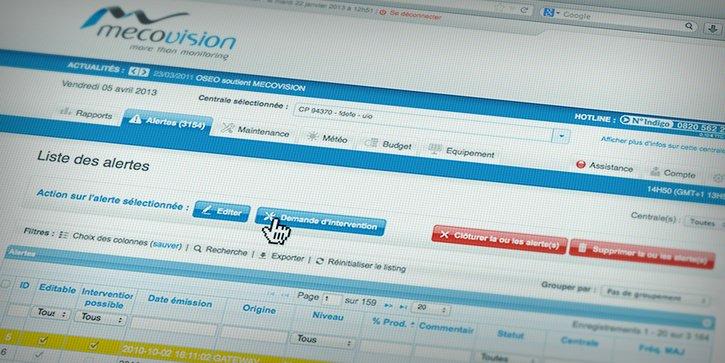Mecovision: Application web