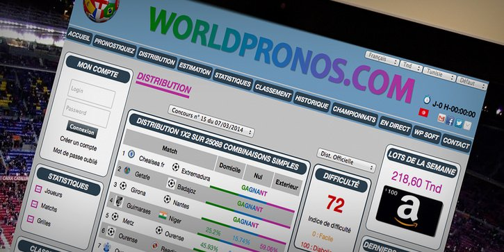 Worldpronos: Application web Pimcore