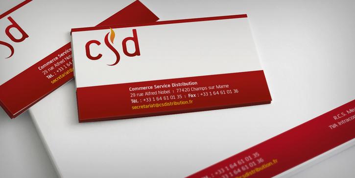 Commerce Service Distribution: Nouvelle identité corporate